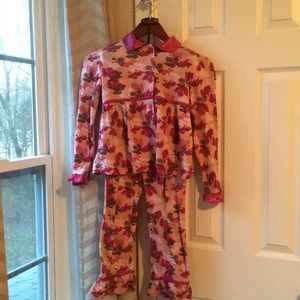 Bunz Kids Pajamas - Girl's pajama set with robe in bunny camo